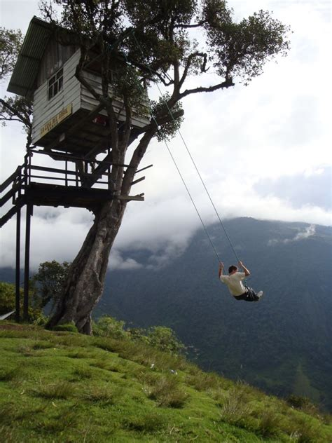swing ecuador the adventurous swing at casa del arbol ecuador world