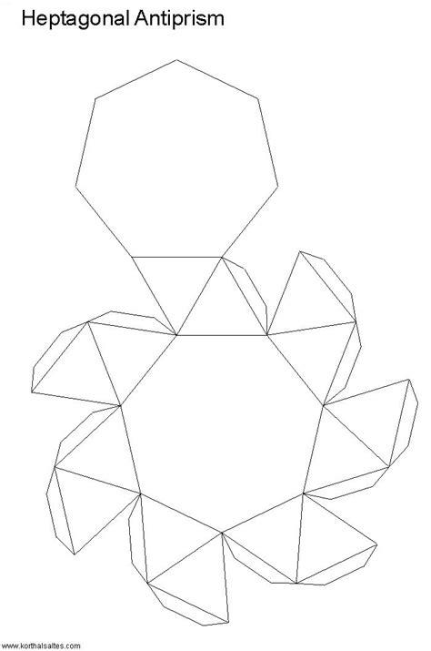 figuras geometricas recortables recortables de figuras geom 233 tricas antiprisma heptagonal