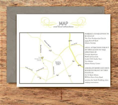 wedding invitation directions wording exles wedding invitation map and directions card chic fresh christine collection diy
