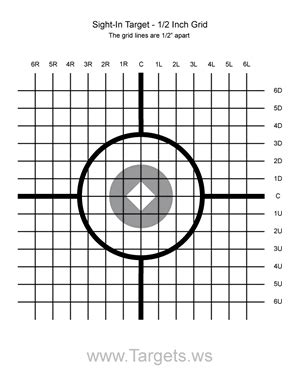 printable grid shooting targets targets print your own sight in shooting targets