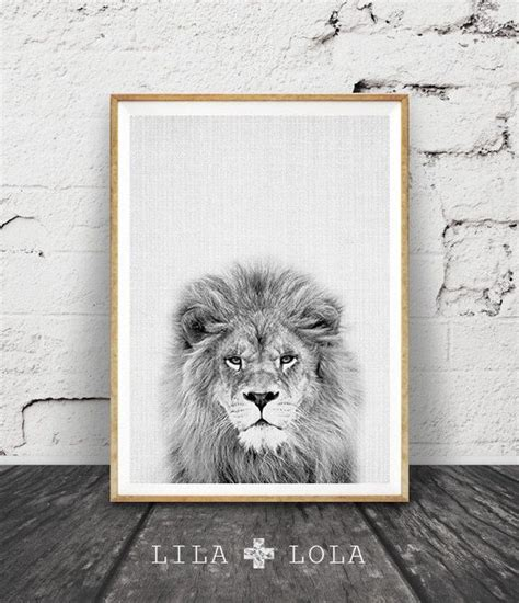 lion print lion print safari nursery animal wall art baby shower decor digital download large printable
