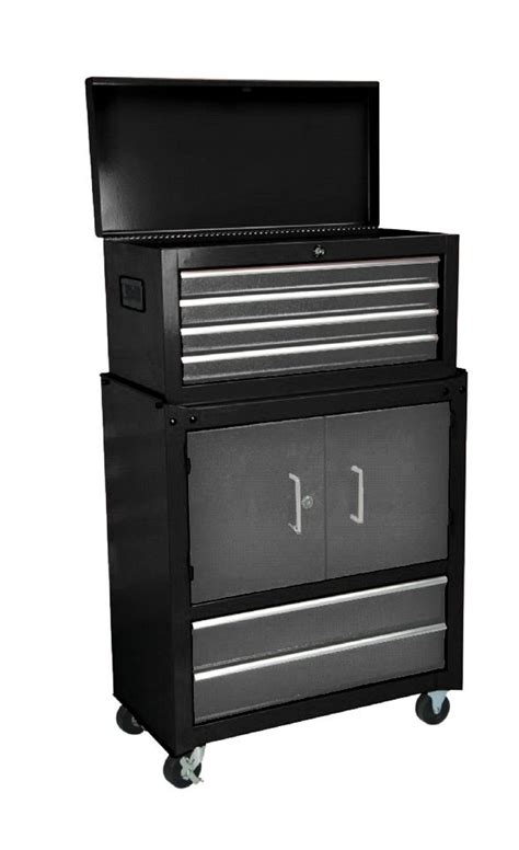 Craftsman Storage Cabinet Craftsman 27 Quot 6 Drawer And 2 Door Tool Storage Cabinet Combination With Bearing Slides Black