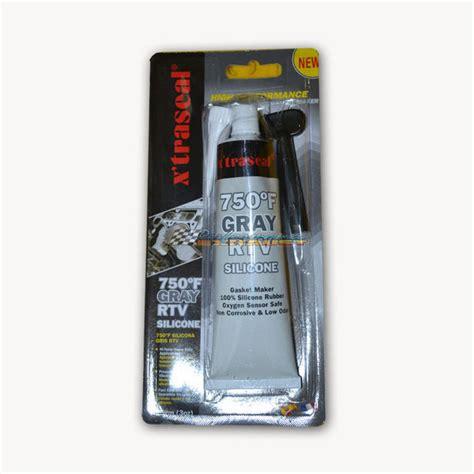 xtraseal high perf gasket maker gray rtv silicone sealant 750f