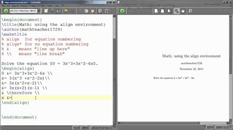 tutorial latex pdf latex tutorial 05 using the align environment funnycat tv