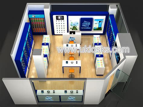 modern  mobile phone shop display counter interior design
