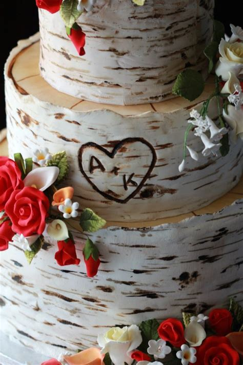 Hochzeitstorte Baum by Birch Tree Wedding Cake Sweetopia