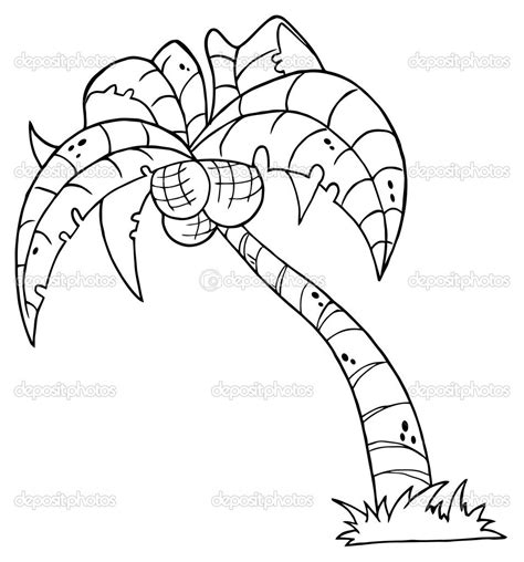 coloring page of a coconut tree printable palm tree palm tree coloring pages for kids
