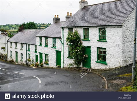 houses to buy in northern ireland whitewashed houses on the hill in gleno village county antrim stock photo royalty