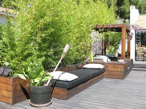 Idée Petit Jardin by Nivrem Terrasse Bois Avec Bambou Diverses Id 233 Es De