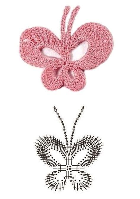 esquema de mariposas para polera crochet colecci 243 n de 20 esquemas de mariposas crochet esquemas