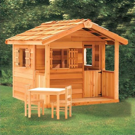 backyard cedar playhouse playhouse the wooden playhouses in order to form a