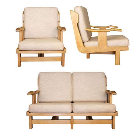 1950 living room furniture 1950s living room suite by guillerme et chambron at 1stdibs