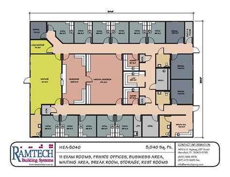 office building floor plans exles clinic floor plan exles modular building