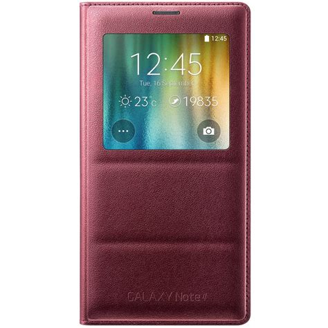 Note 4 Cover S View Note 4 Sarung Note 4 samsung galaxy note 4 s view flip electro plum
