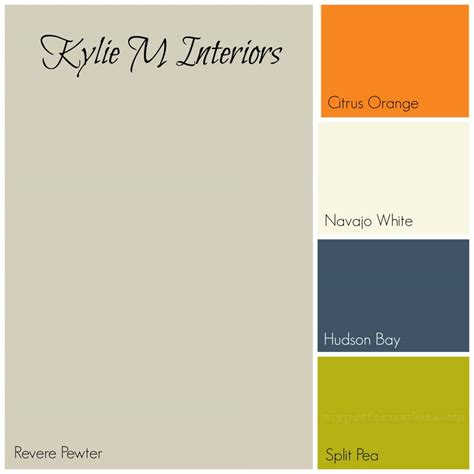 best color with orange revere pewter gray paint colour palette with orange cream