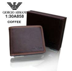 dompet wallet giorgio armani w4592 leather wool felt wallet wood brown clothing