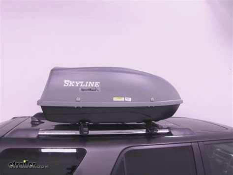 Sport Rack Cargo Box by Sportrack Skyline Xl Cargo Box Roof Mount 18 Cubic
