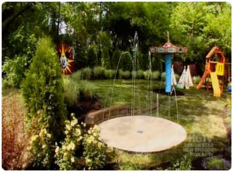 disney backyard hgtv my yard goes disney splash pad pebble flex