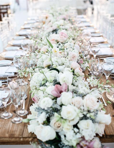Wedding Table Flowers by Wedding Ideas Fresh Flower Table Runner Inside Weddings