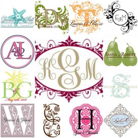 8 best images of free printable monogram stencils wedding