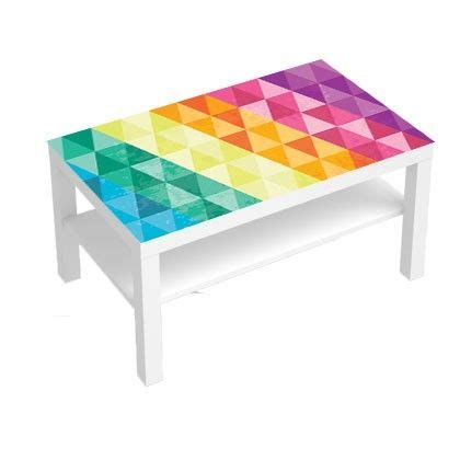stickers pour table basse lack 90x55 multi couleurs