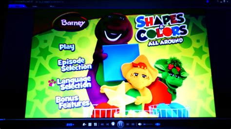 barney colors all around barney shapes colors all around