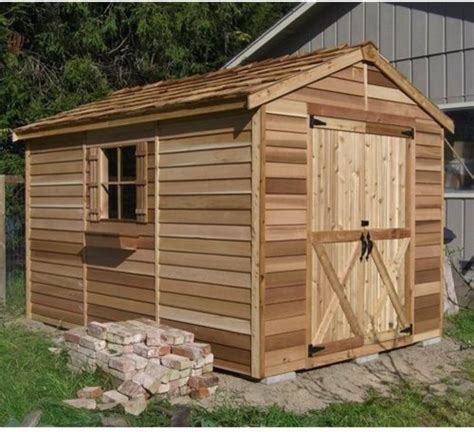 Cedar Shed Cedar Shed 8 X 12 Ft Rancher Storage Shed Traditional
