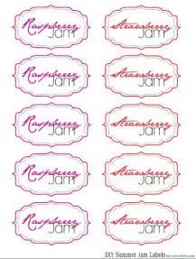 jam labels template free jam labels