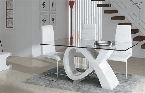 mesas de cristales rectangulares