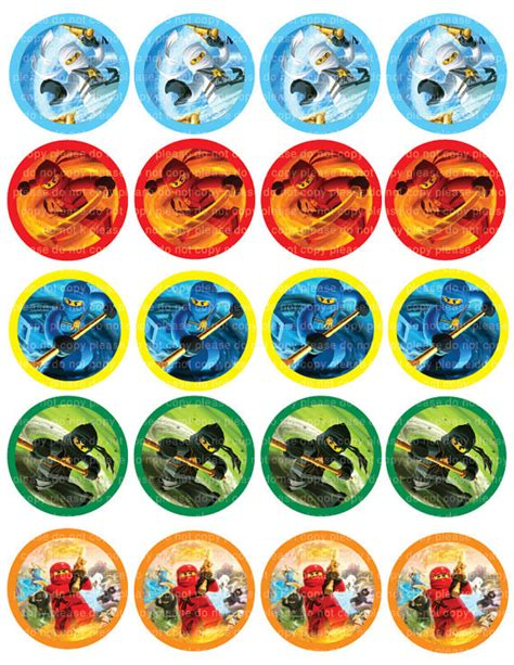 printable ninjago stickers instant dl ninjago movie stickers cupcake toppers 2 inch