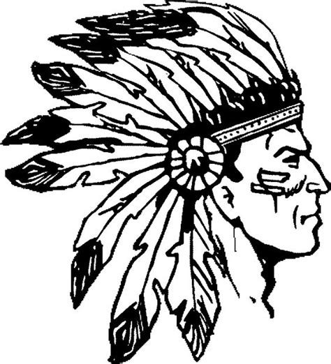 headdress coloring page american indian with headdresses thread sketching