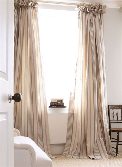 cottage curtain ideas blue ticking curtains kate forman design window