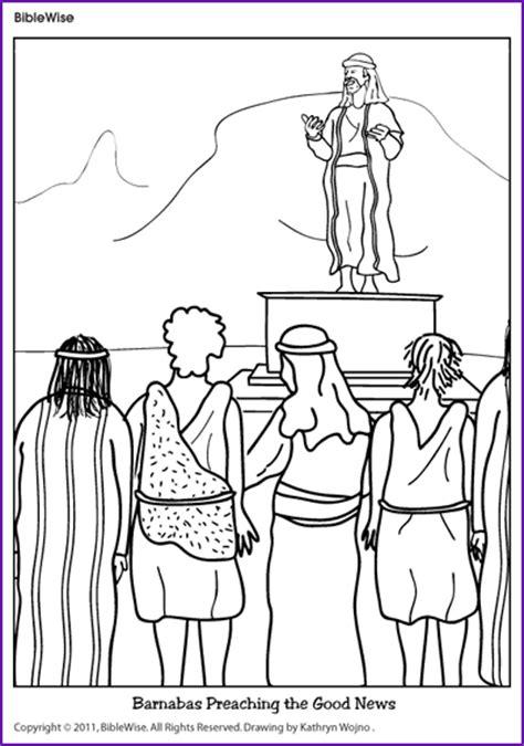 coloring page jesus preaching coloring barnabas preaching the news korner
