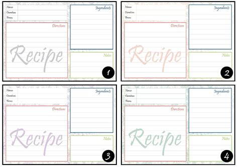 free printable picture recipes 9 best images of purple free printable recipe cards free