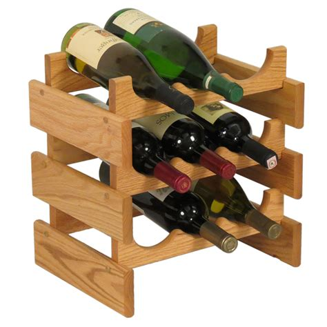 Wood Wine Rack by Wood Wine Rack 9 Bottle In Wine Racks