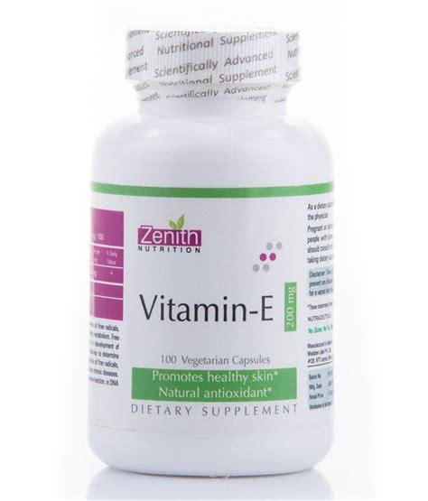 Vitamin Calmin Af Zenith Nutritions Vitamin E 200mg 100 Capsules Buy