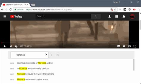 youtube videos news and tips ghacks technology news youtube video text search extension for chrome