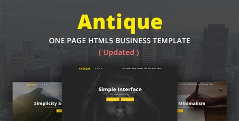 antique one page html5 business template themekeeper com