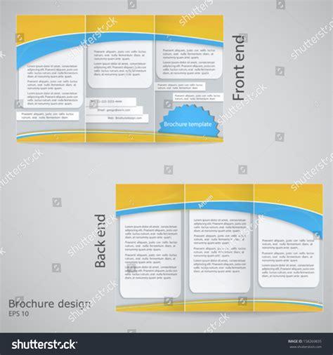 brochure template yellow trifold brochure design brochure template design stock