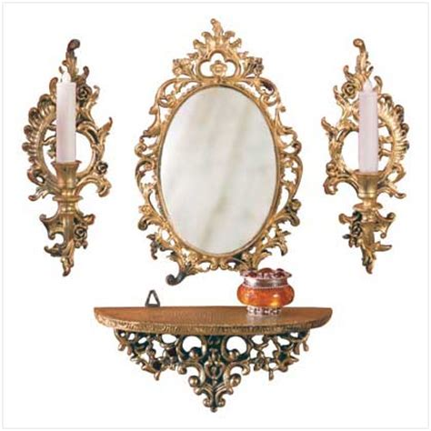 Cheap Sconces Wall Decor decor mirror shelf 2 candle sconce wall set ebay