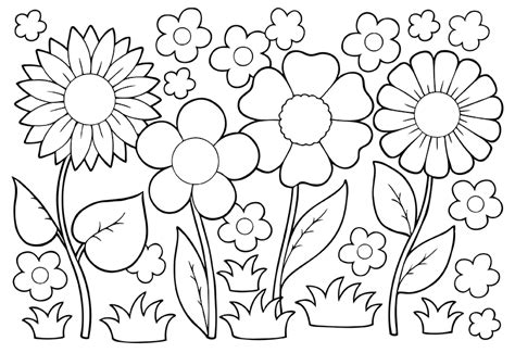 coloring pages of may flowers growing things environment health national