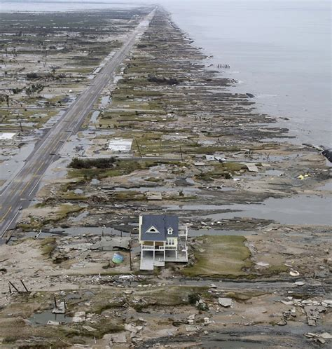 galveston texas beach front devastation after hurricane