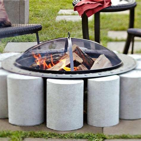 lowes diy pit incorporate a freestanding pit into your patio with a ring of concrete cylinders build