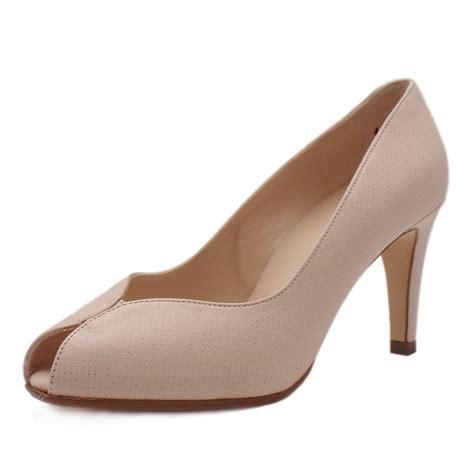 high heel peep toe kaiser uk sevilia powder pin leather high heel