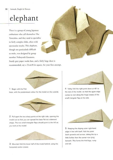 Origami Elephant Diagram - 25 best ideas about origami elephant on