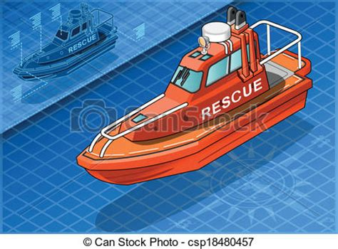 rescue boat clipart isometric rescue boat isolated in front royalty free