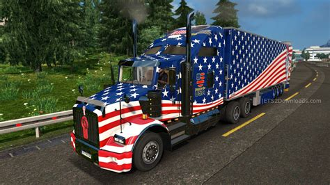 kenworth usa usa skin pack for kenworth t800 ets2 world