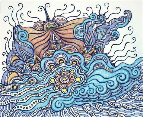 zentangle pattern water stormy seas water zentangle tutorials pinterest
