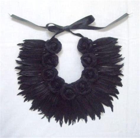 Kalung Bulu Black Feather Necklace louisa hammond black feather necklace feather jewelry