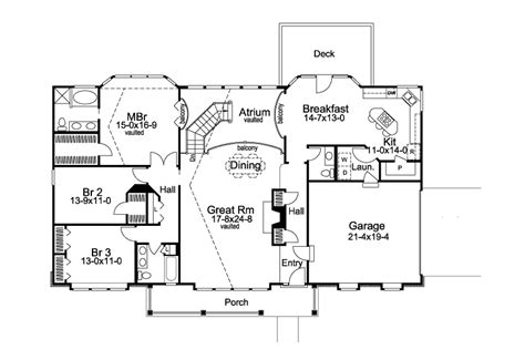 atrium ranch house plans stoneridge country home